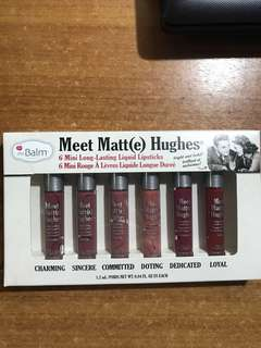 The Balm Meet Matt(e) Hughes 6 mini long lasting liquid lipsticks