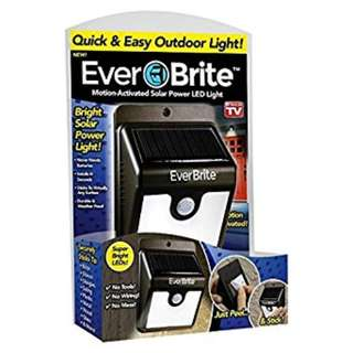 Ever Brite Motion Activated Solar Power Outdoor LED Light