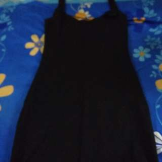 Dress hitam stretch