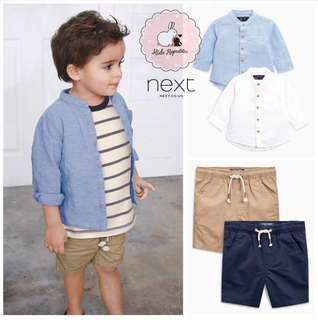 NEXT KIDS/BABY UK - Linen shirt and shorts