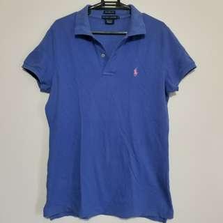 Ralph Lauren Blue Classic Skinny Polo Shirt