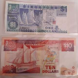 Singapore old ship notes.