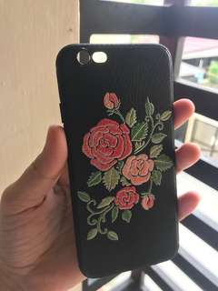 Jelly Embroidery Flower Soft Case