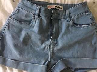 Supre light blue denim shorts
