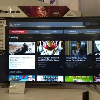 "Panasonic SMART TV 43"" 4K UHD.Bisa cicilan mudah tanpa kartu kredit proses 3 menit"