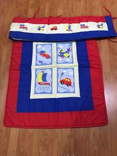 Baby Comforter & Bumper set