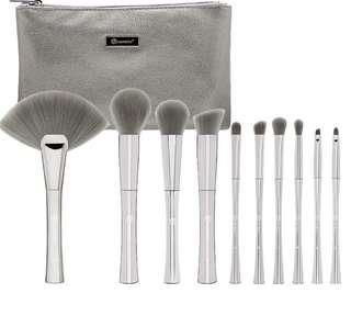 [🥀SLOTS 0/15] BH COSMETICS smoke n mirrors 10 piece metalised brush set with cosmetic bag po