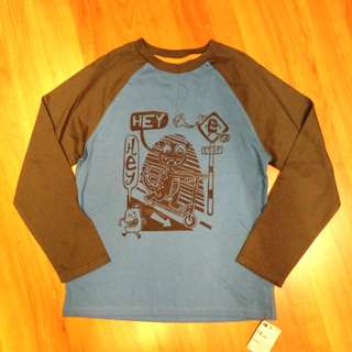 Brand new with tag - Mothercare Boys Long Sleeved T-shirt for 7-8 yo