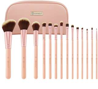 [🥀SLOTS 0/15] BH COSMETICS bh chic 14 piece brush set with cosmetic bag po