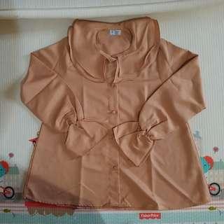 Long sleeve shirt - coklat