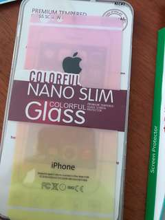 Iphone 6plus colour tempered glass