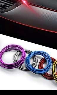 Car decoration strip red color
