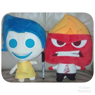 Joy & Angry Plush Toy from Inside Out Movie