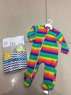 Sleepsuit zip with cover leg