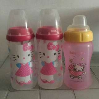 Hello Kitty feeding bottles