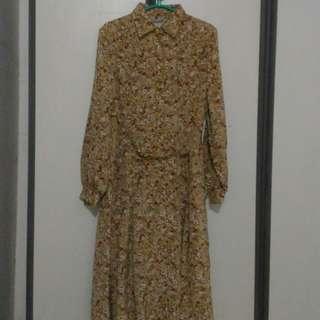 Tunik Bunga Impor Jepang Semi Silk