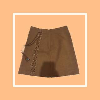 Brown Office/Casual Skirt