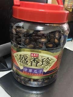 全新_盛香珍甘草瓜子1000公克
