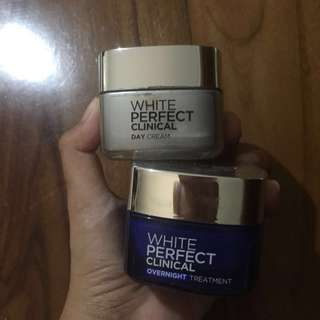 Loreal white perfect clinical day cream and overnight treatment
