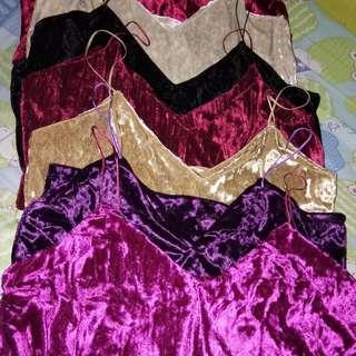 Velvet Cami string tops