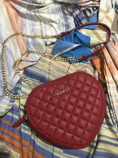 Pre-loved Limited Edition GUESS Heart Slingbag