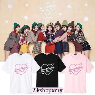TWICE Merry & Happy Heartshaker Tee