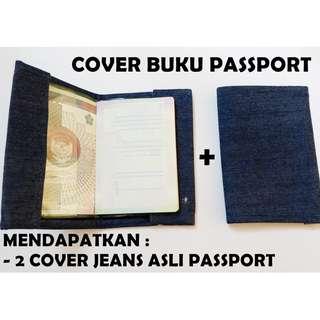 passport cover jeans / buku passport / sampul passport handmade / BELI 1 DAPAT 2 COVER