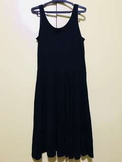 AUTHENTIC H &M BASICS BLACK COTTON DRESS; never use; just cleaning up my closet