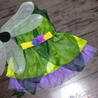 Tinkerbell green forest fairy costume
