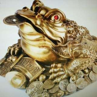 招財進寶,三腳金蟾,全銅