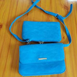 2 in 1 Leather Sling bag and pouch