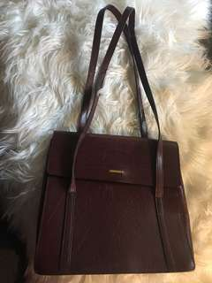 Oroton red-brown leather bag