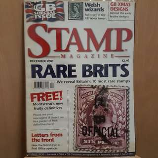 GB Special Issue Stamp Magazine Dec 2001