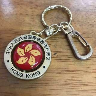 珍藏1997年香港回歸旋轉匙扣🔑約3.5x3.5cm (不議價)