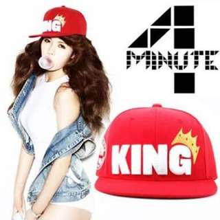 NEW Hyuna 'KING' Snapback Cap Hat Red