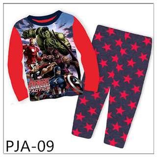 8Y-12Y Marvel Heroes Long sleeve Pajamas PJA09