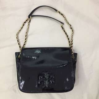 Tory Burch - Charlie Patent Small Flap Shoulder Bag