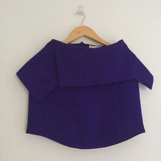 NWOT Keepsake The Label Crop Blouse - Purple - XS