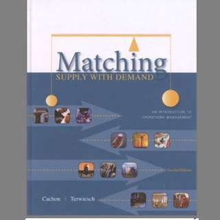 DSC2006 Textbook - Operations Management or Matching Supply with Demand