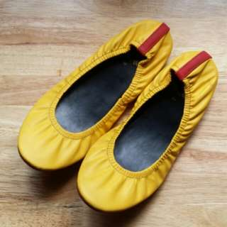 Yellow Foldable Flats by Rita Shoes