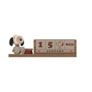 花生漫畫 Snoopy / 史努比木質月曆 / D239 / 萬年曆 日曆 史奴比 年曆 日期 星期