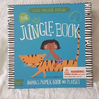 The Jungle Book Animals Primer Book and Playset