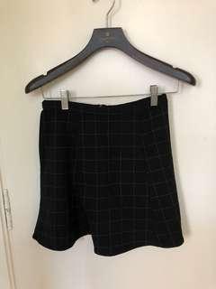 American Apparel Black Geometrical Pattern Skirt