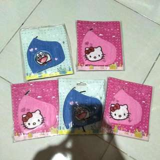 Makser Wajah Hello Kitty Dan Doraemon