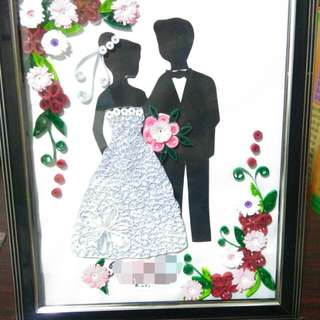 Paper quilled wedding(personalized name)