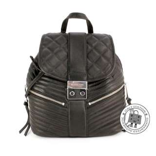 (NEW) Michael Kors 30H5SEXB1L SMALL BACKPACK LEATHER CALFSKIN BACKPACK SHW, BLACK / 001 全新 背包 黑色