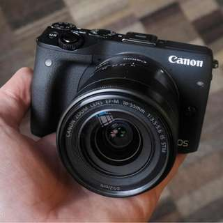 kredit Canon EOS M3 Kit EF-M 18-55mm White - dp ringan tanpa Cc