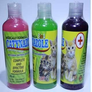 Shampo Kucing 3 in 1 Anti jamur, Gatal dan Bakteri CATYNAZOL 250ml