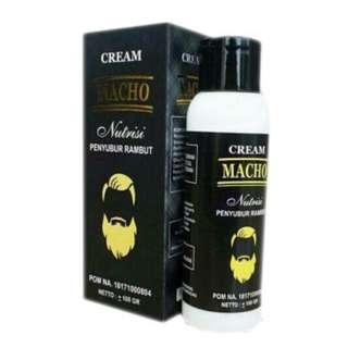 Cream Macho Krim Penyubur Rambut Jenggot