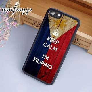 maifengge I'm Filipino Philippines Flag Case For iPhone 6 6S 7 8 Plus X 5 5S SE Case cover for Samsung S5 S6 S7 edge S8 Plus
